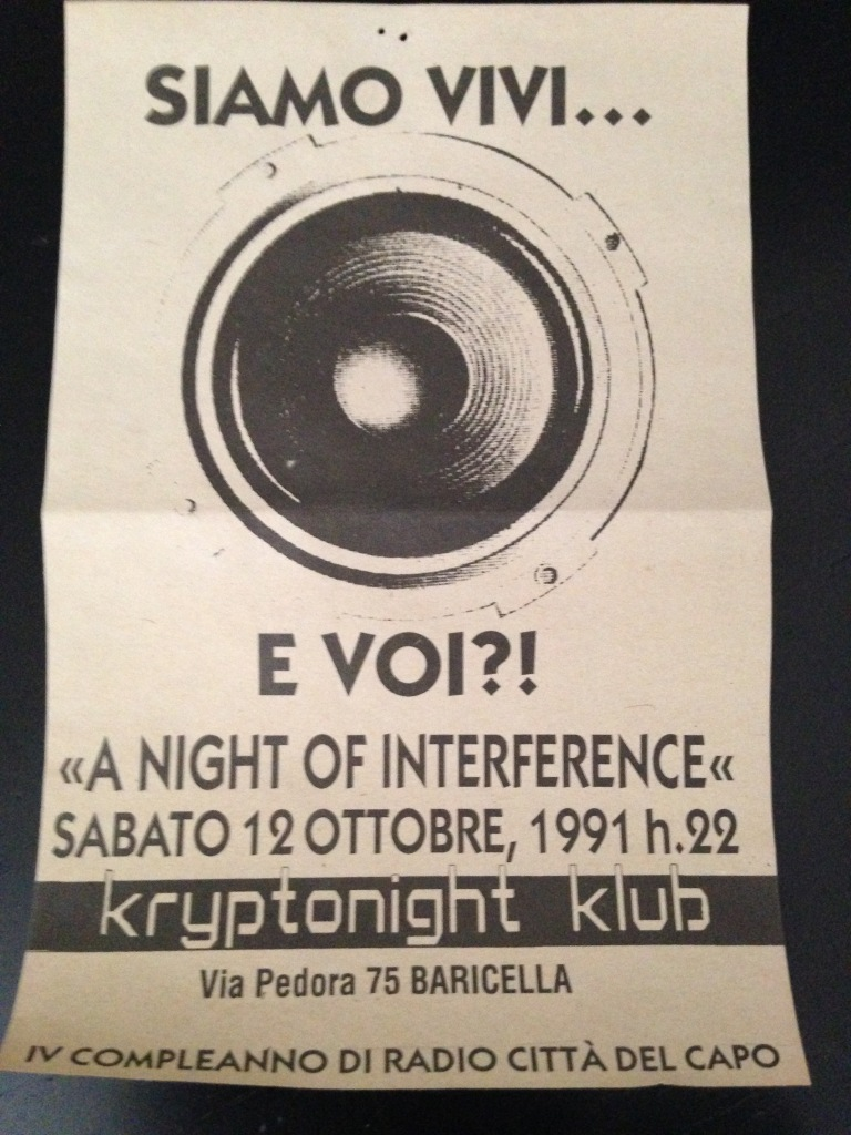 A Night of Interference: Tackhead + Bomb the Bass + DJ Spike, Krytonight Baricella 12/10/1992